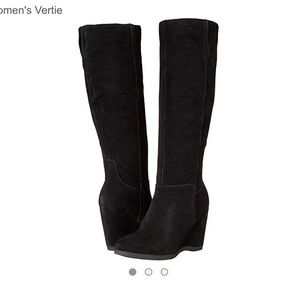 Nine West Suede Wedge Boots Size 8.5